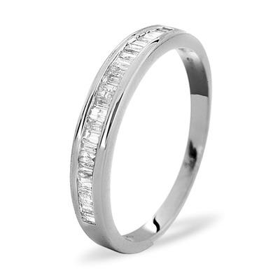 Grace Half Eternity Ring 0.33CT Diamond 9K White Gold