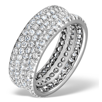 Exclusive 3.75CT G/Vs Full Eternity Ring SIZE N