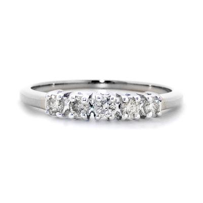 9K White Gold Diamond Value Five Stone Ring 0.25ct
