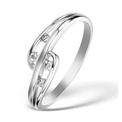 0.10ct Diamond and 9K White Gold Ring -  E5810