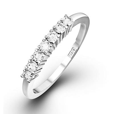 Chloe Platinum 7 Stone Diamond Eternity Ring 0.30CT H/SI