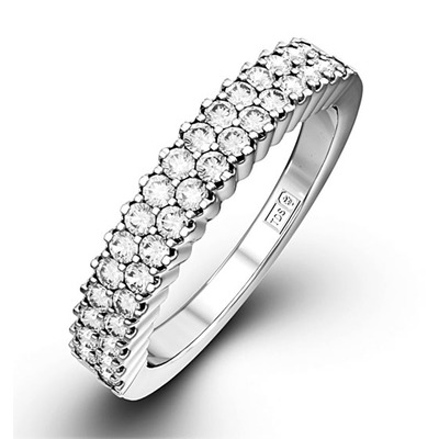 SOPHIE PLATINUM Diamond ETERNITY RING 0.50CT G/VS