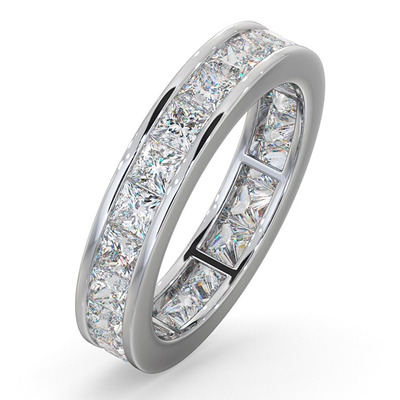 Eternity Ring Lauren 18K White Gold Diamond 3.00ct H/Si