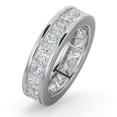 Eternity Ring Lauren Platinum Diamond 5.00ct G/Vs