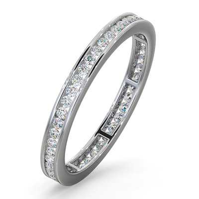Diamond Eternity Ring Rae Channel Set 0.50ct G/Vs in Platinum
