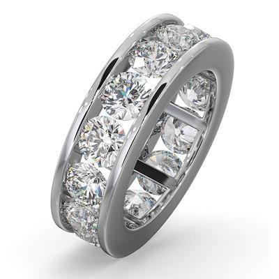 Diamond Eternity Ring Rae Channel Set 5.00ct G/Vs in 18K White Gold