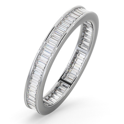 Eternity Ring Grace Platinum Diamond 1.00ct H/Si