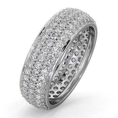 Eternity Ring Sara 18K White Gold Diamond 2.00ct H/Si