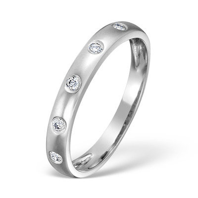 18K White Gold Ladies H/Si Diamond Eternity Ring