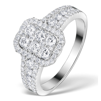 Diamond Galileo 1CT H/SI and 18K White Gold Ring - N4538Y