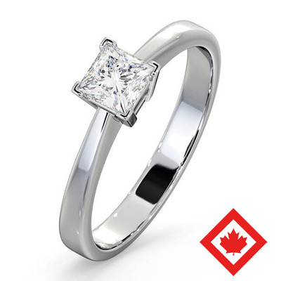 Engagement Ring Lauren Platinum Canadian Diamond 0.50CT H/SI2