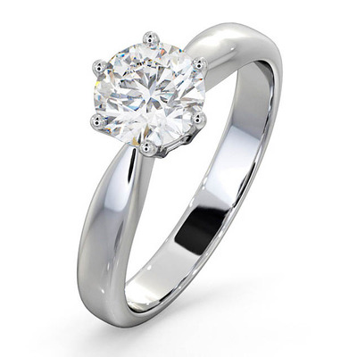 Certified 1.00CT Chloe High Platinum Engagement Ring E/VS1