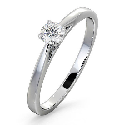 Engagement Ring Certified Petra 18K White Gold Diamond  0.25CT