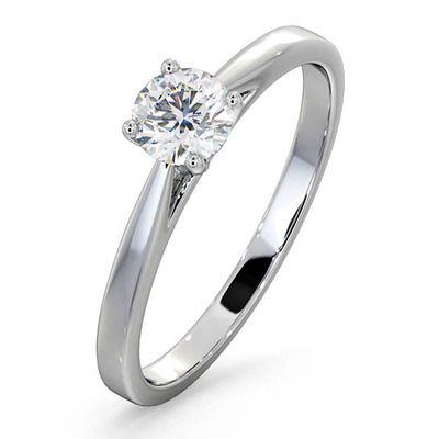 Engagement Ring  Certified Petra 18K White Gold Diamond 0.50CT