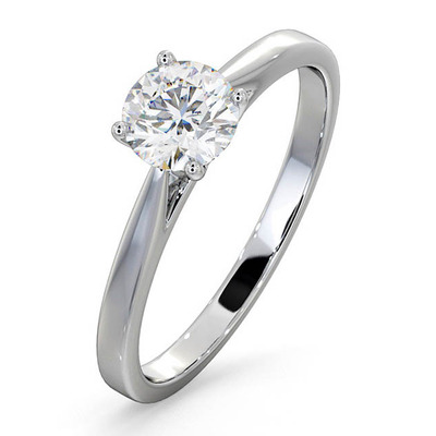 Engagement Ring Certified 0.70CT Petra Platinum  G/SI2