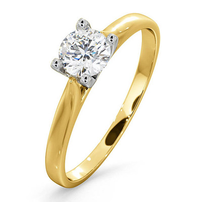 Certified Grace 18K Gold Diamond Engagement Ring 0.50CT