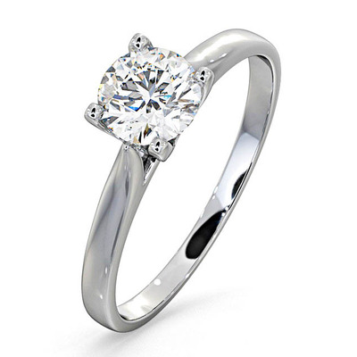 Certified 0.70CT Grace Platinum Engagement Ring E/VS2