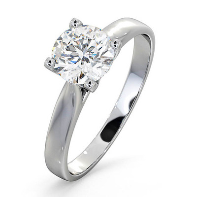 Certified 1.00CT Grace Platinum Engagement Ring G/SI2