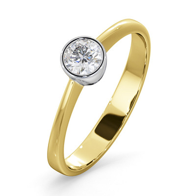 Diamond Engagement Ring - Round Emily 0.25CT 18K Gold