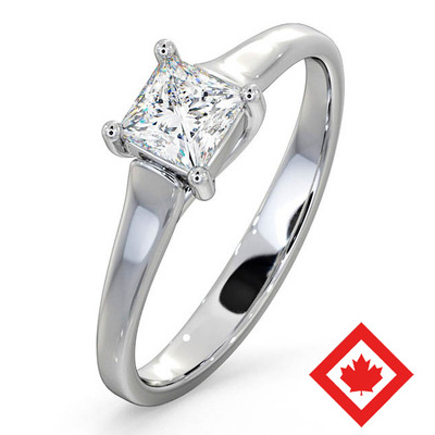 Engagement Ring Lucy 18K White Gold Canadian Diamond 0.50CT H/SI1