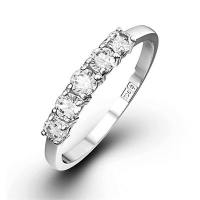Chloe Platinum 5 Stone Diamond Eternity Ring 0.50CT G/VS